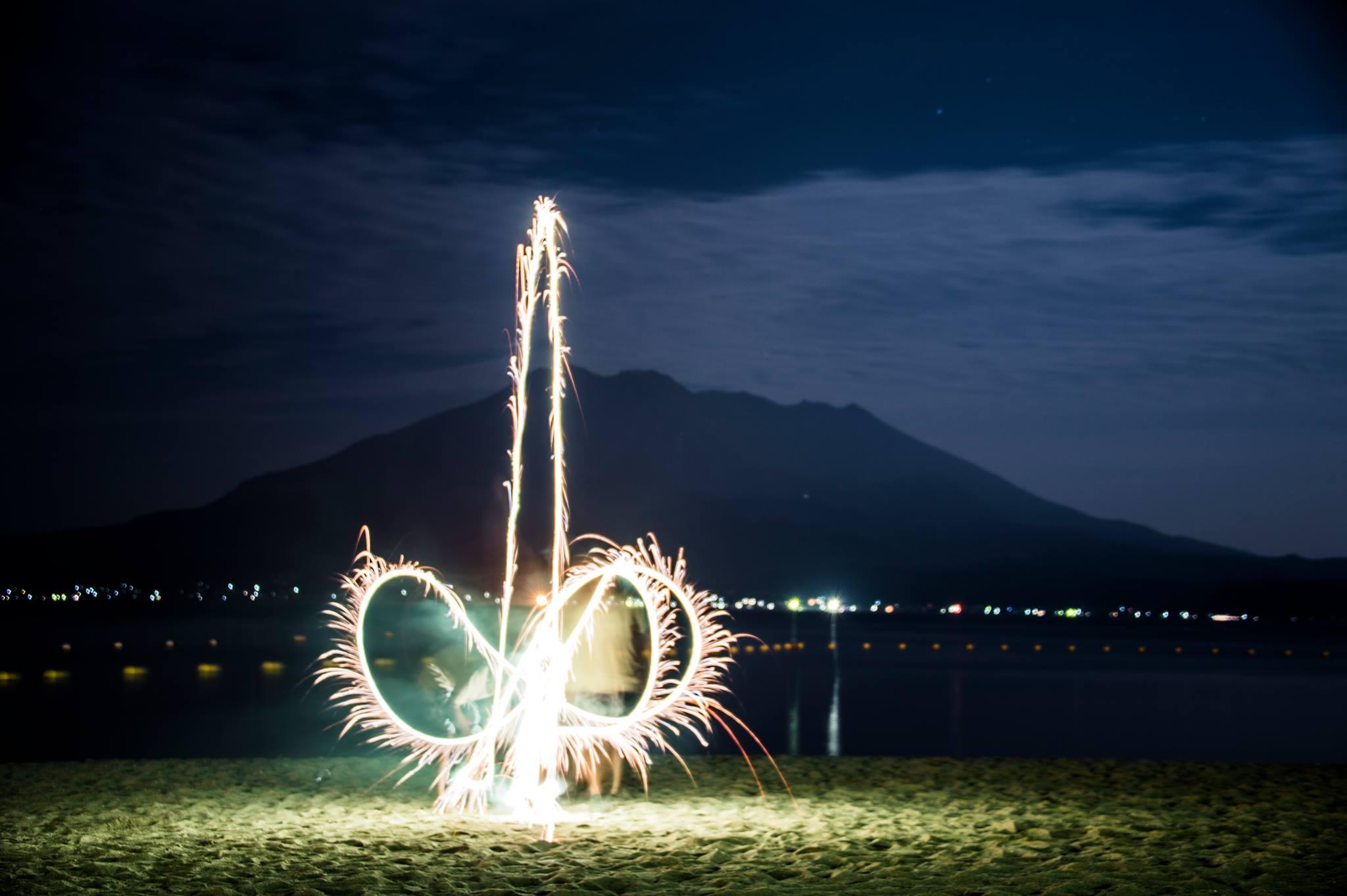 桜島,花火,初夏,彼岸,彼岸花