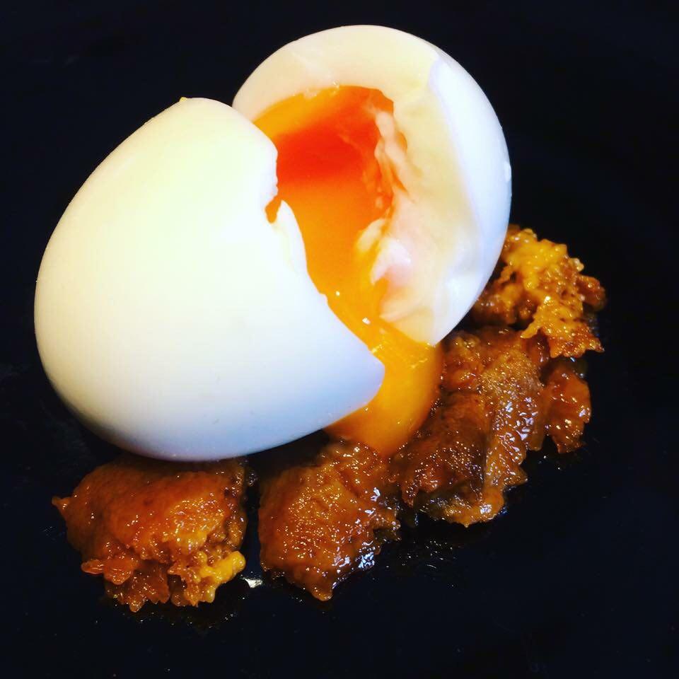 半熟卵,鶏,博多,日本酒,まき野