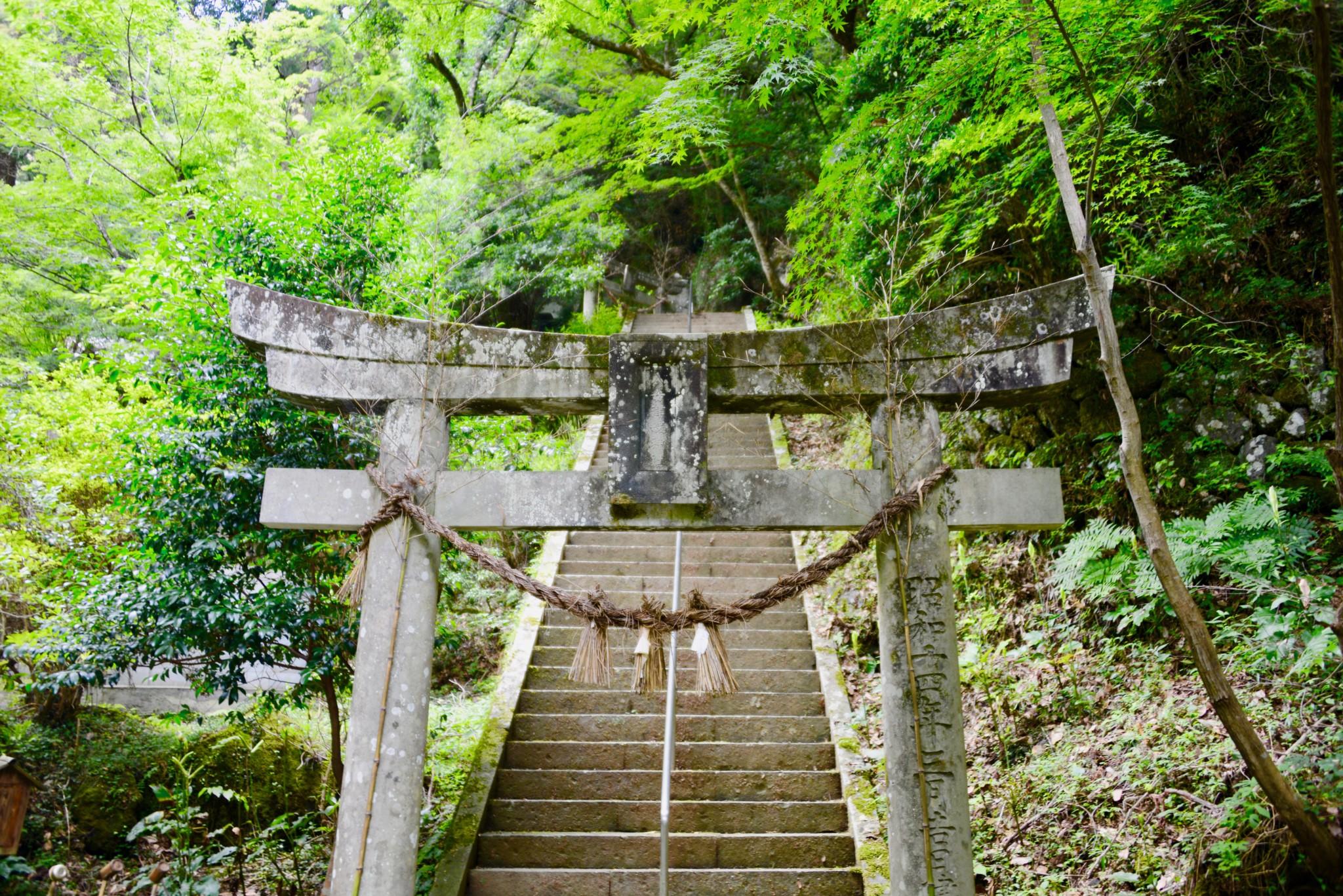 八女津媛神社,八女津媛,鳥居,矢部村