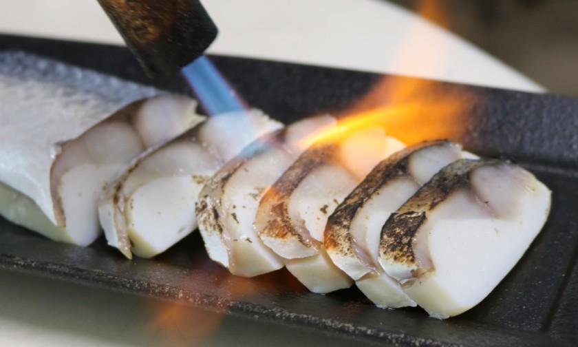 吟醸香,立石蒲鉾店,極鯖,炙り極鯖,日本酒,福岡,酒の肴