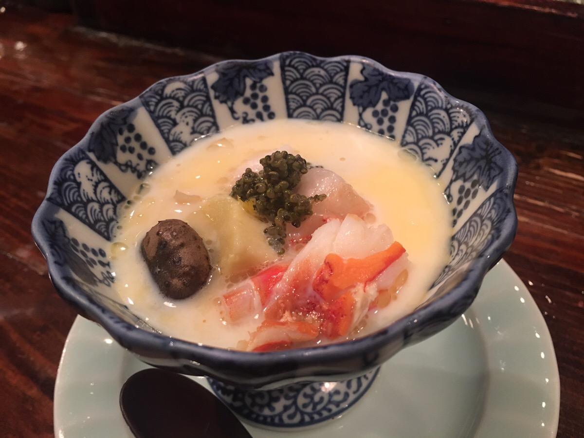 茶碗蒸し,西中洲,山ぼうし,博多,吟醸香,日本酒
