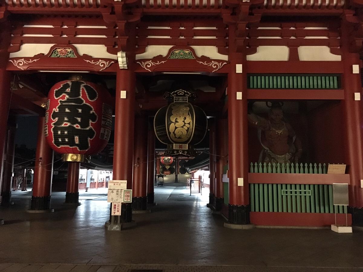 雷門,浅草,夜桜,ソメイヨシノ,喜多屋
