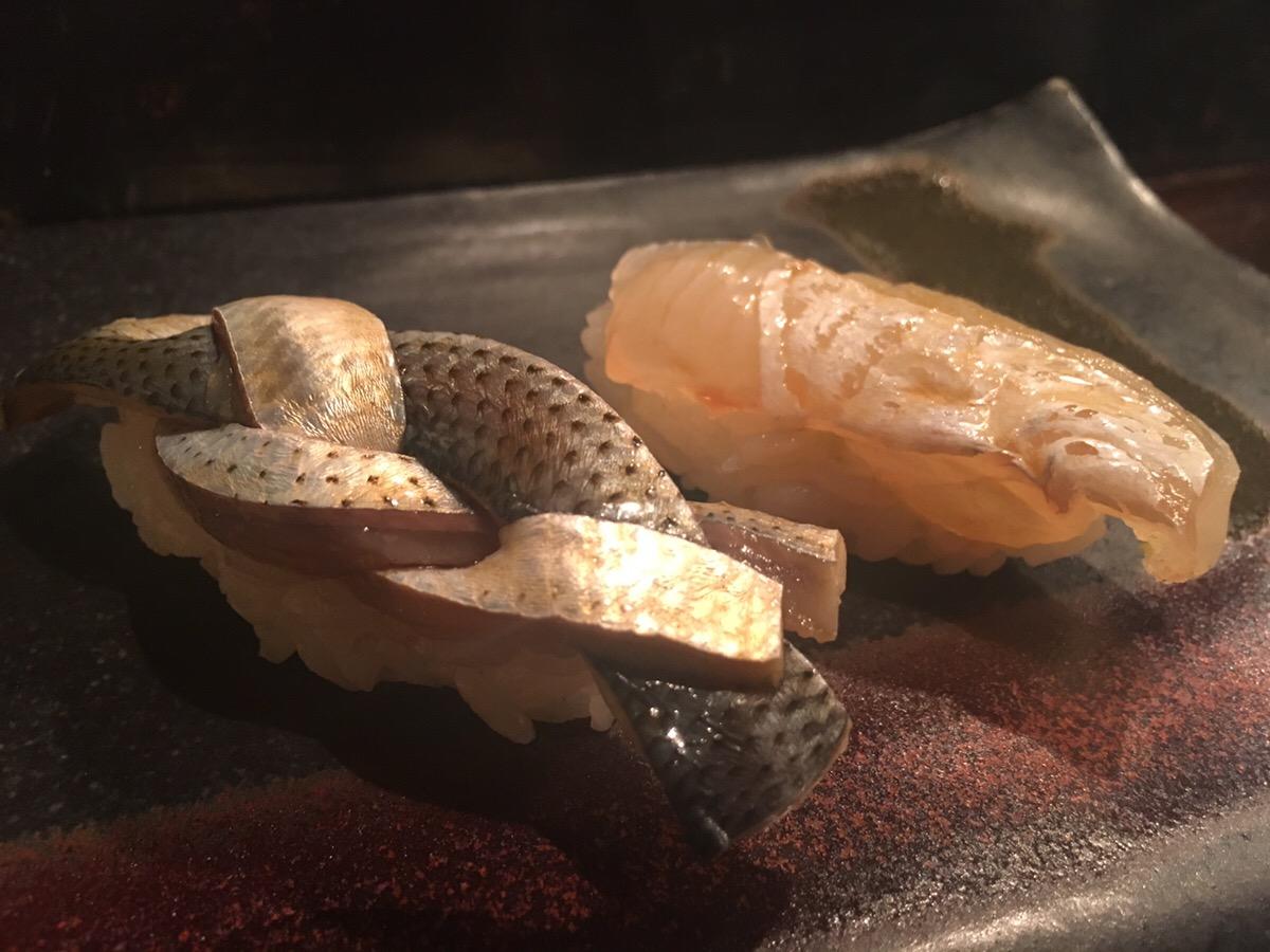 カレイ,昆布締め,コハダ,西中洲,江戸前鮨,日本酒,博多