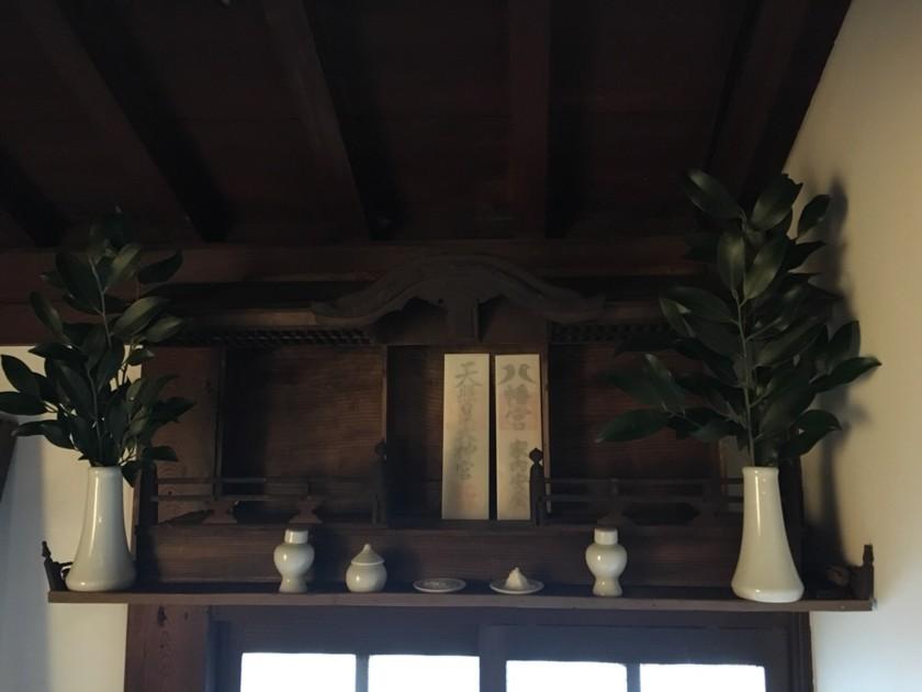神棚,古民家,恵比寿酒店,榊,日本酒
