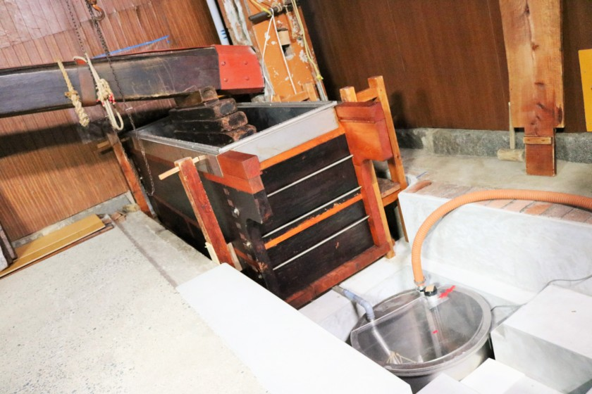 福岡,日本酒,吟醸香,白糸酒造,ハネ木搾り
