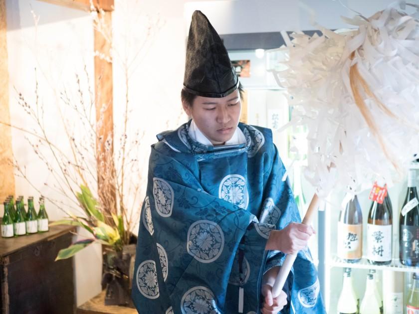 恵比寿酒店,開店祭,福島八幡宮,神棚,神主