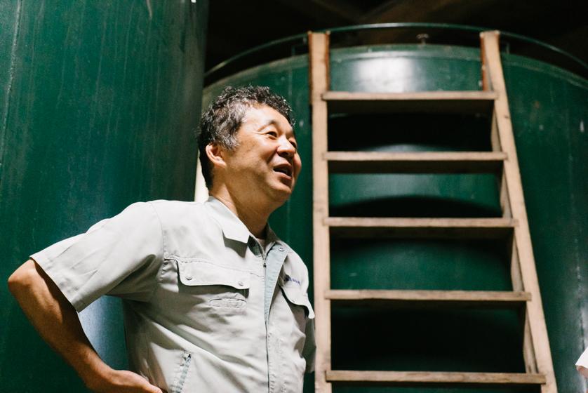 瑞穂菊酒造代表の小野山洋平さん