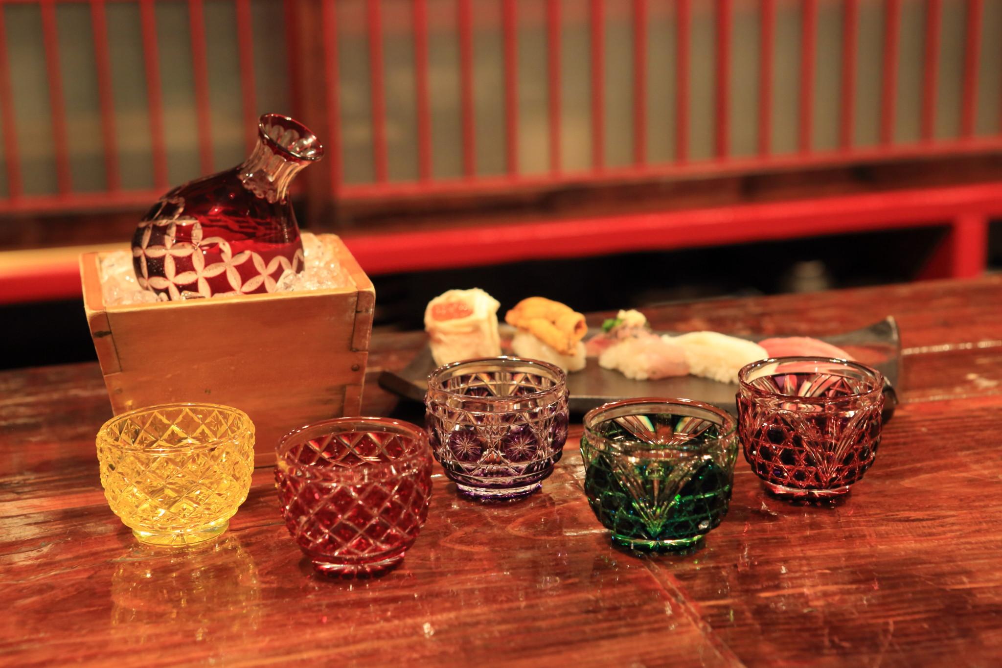 薩摩切子,島津紫,薩摩,紅ガラス,酒器