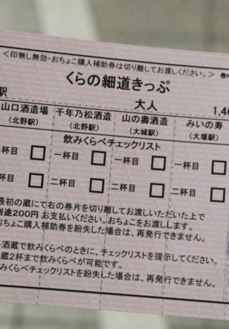 福岡,日本酒,吟醸香,くらの細道きっぷ